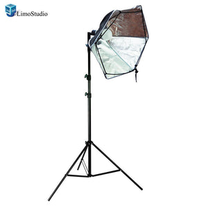 "24"" Morning Glory Reflector and Softbox Lighting Diffuser 800 Lumens 5500K Light Stand , AGG1527"