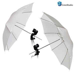 "Photography Photo Studio 52 "" White Umbrella Reflector Diffuser with Light Bulb Adapter Holder, AGG1531"