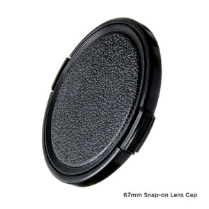 67mm Snap-on Universal Lens Cap DSLR Camera Accessory, Lens Cap Holder for NiKon, Canon, AGG1554V2