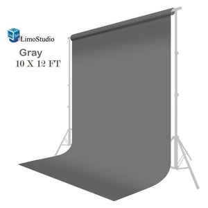 Seamless 10' x 12' Solid Gray Muslin Backdrop Photo Studio Background, AGG155