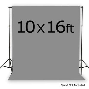 Gray muslin 10 x 16 ft photography studio video background backdrop, AGG157-A
