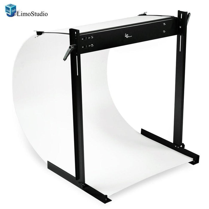 LED E-commerce Business Product Photo Shooting Table Stand Kit with Double LED Light Tube 6500K, Photo Studio, AGG1571