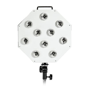 Photo Video Studio Octagon Panel Continuous Light 10 Bulbs Socket Holder Head , AGG1582