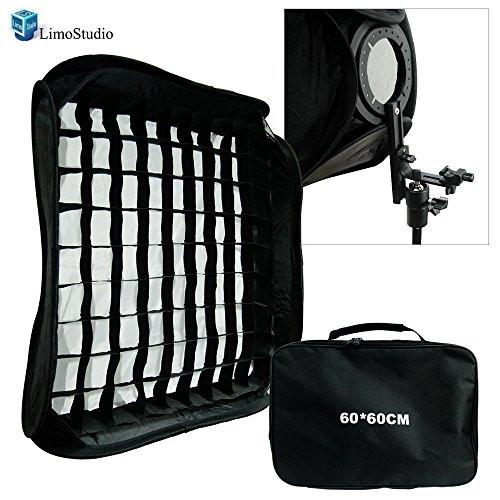 "24""x24"" (60cm X 60cm) Portable Flash Soft Box Diffuser L-shaped bracket flash Ring Kit with Universal Hot Shoe, AGG1595"