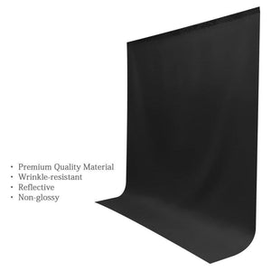 Photo Video Studio Seamless 10' x 13' Solid Black Muslin Backdrop Photo Studio Background , AGG1602