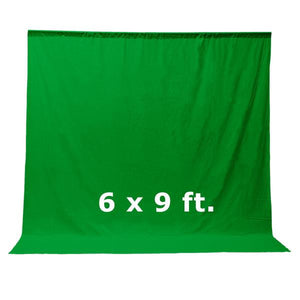Photography Photo Studio 6 x 9 ft. Green Chromakey Muslin Backdrop Background Stand Kit with Gooseneck Photo Light Head , AGG1618