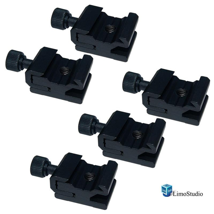 "5Pcs Hot Shoe Flash to Bracket / Stand Mount Adapter Trigger with 1/4"" Female Thread, AGG1624"