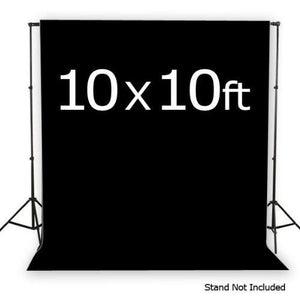 10 x 10 ft Photography Studio Portrait Muslin backdrop Backgrounds Black, AGG162