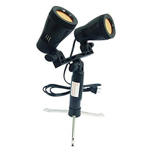 2Pcs Double Head LED Light Set for Table Top Studio Portable Lighting Kit with 2 Colors Gel Filters Blue&Red, AGG1656