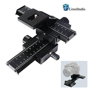 Photography Studio 4 Way Photo Shooting Macro Focus Rail Metal Slider For DSLR Digital Camera, AGG1665