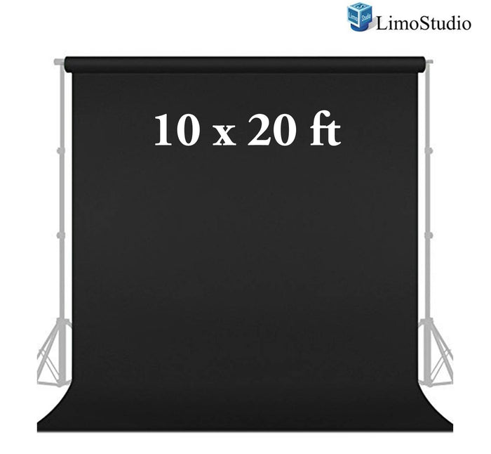 Photo Studio Muslin Photography Backdrop Background 10 X 20 Ft Screen Black Muslin Backdrop, AGG166