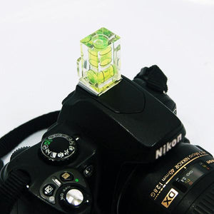 Photography Studio Two Axis Bubble Level Hot Shoe Flashlight Hotshoe for DSLR Cameras, AGG1672