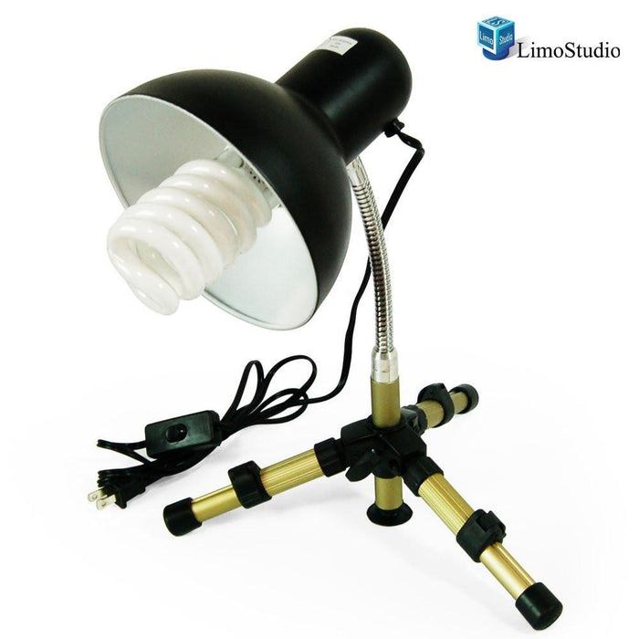 Table Top Studio Light Portable and Flexible Light Head Tripod w/ 45W CFL Light Bulb, AGG1721