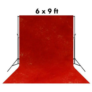 6 X 9 Ft Photo Studio Hand Painted Signal Red Hand Dyed Backdrop Backgrounds, AGG1722