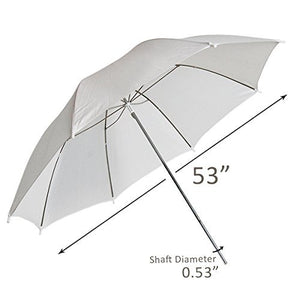 "LimoStudio 53"" Wide Photography Studio White Umbrella Photo Video Umbrella Reflector, SRE1226"