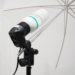 "Photography Photo Video Studio 40"" Umbrella Light Lighting Kit with 10x10 ft. White Muslin Backdrop Background Support System, AGG1727"