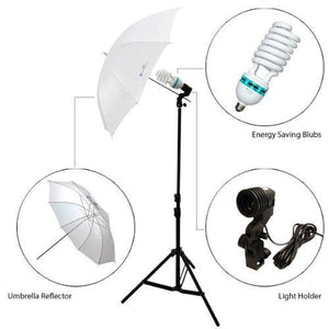 800-840W Photography Lighting Light Kit + 10' x 10' White Muslin Backdrop Background Photo Portrait Studio Umbrella Continuous Lighting Kit, AGG1730