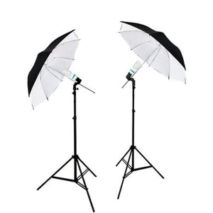 2 PHOTOGRAPHY STUDIO CONTINUOUS LIGHTING KITS W/ TWO FREE Daylight CFL LIGHTS & UMBRELLAS FOR PRODUCT, PORTRAIT, & VIDEO SHOOT, AGG1740
