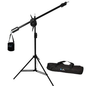 Photo Studio Overhead Boom Light Stand Kit with Counter Weight Sand Bag, Carry Case, AGG1747