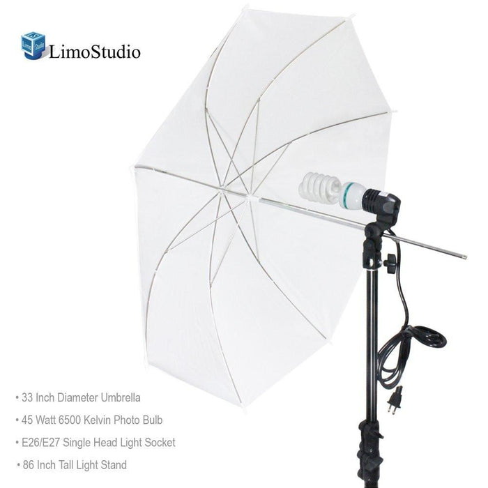 Photography White Photo Umbrella Light Lighting Kit, AGG1754