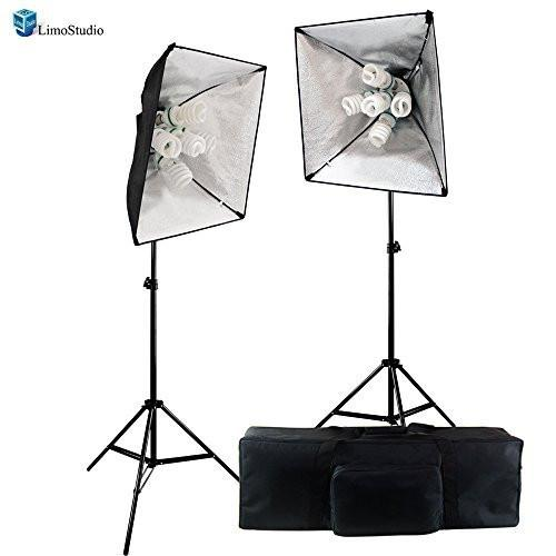 Photography Studio 2000 Watts Output 5 Socket Light Head Softbox Lighting Light Kit Photo Softbox Light with Carrying Case, AGG1762
