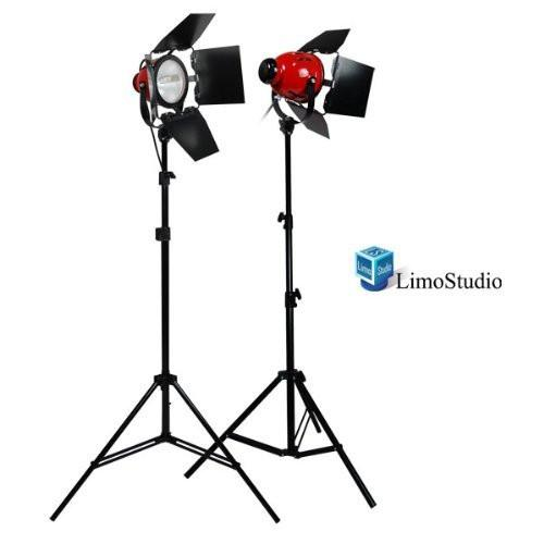 Photography Studio 1600W Tungsten 2 Barndoor Studio Video Film Continuous On Lighting Light Kit, AGG1765