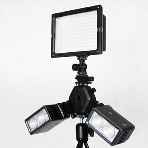 Photography Flash Light 3 Head Triple Hot Shoe Mount Adapter Flash Light Bracket Umbrella Holder, AGG1766