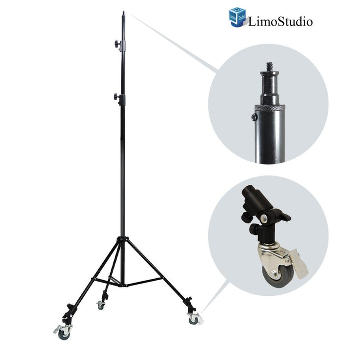 Photography Studio Heavy Duty Light Stand Tripod with Caster Wheels, AGG1770