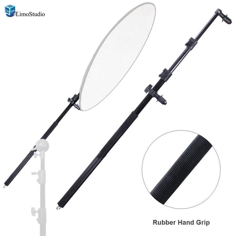 Extendable Photo Studio Lighting Reflector Holder Boom Arm with Rubber Hand Grip, AGG1788