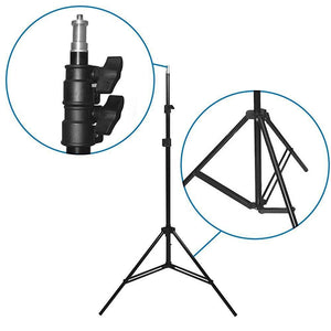 4 Sets Continuous Barndoor Lighting Stand Kit with Dimmer Switch Photography Photo Studio, AGG1799