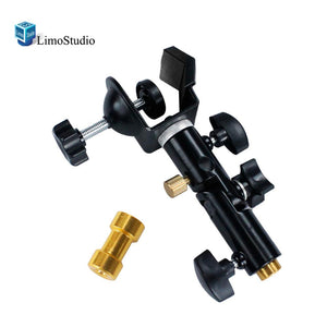 C-Clamp Clip Mount & Light Stand Mount Bracket with Umbrella Reflector Holder & Female Screw Adapter Thread Brass Photography Studio, AGG1810