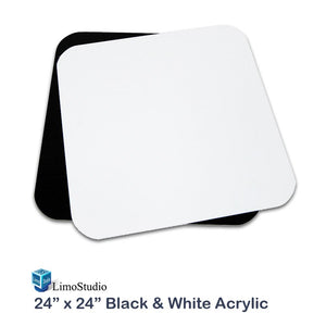 24 Inch Acrylic White & Black Reflective Display Table Background Boards, Product Table Top Photography Shooting, AGG1826