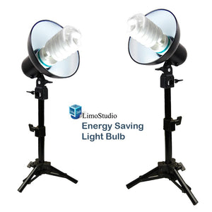 2 Sets 45W Mini Continuous Light Table Top Photo Studio Lighting Kit, Light Bulb, Light Stand, Light Head, AGG1834