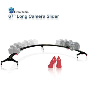 "Camera & Camcoder Slider 67"" Long 180 Degree 1/2 Round Circle Dolly Smooth Track for Video & Image Shoot, Photography Studio, AGG1837"