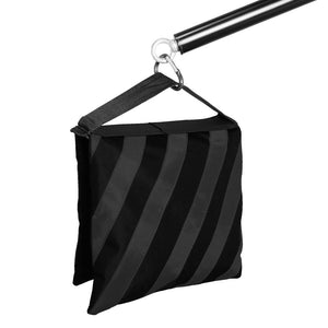 4 Pieces Saddlebag New Sand Bag Heavy Duty Weight Bag, Black Color, Holds 18lbs for Photo Studio Light Stand & Boom Stand, AGG1845