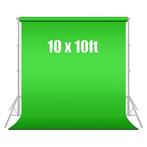 10' X 10' Photography Backdrop Green Chromakey Muslin Photo Video Background Backdrops, AGG186