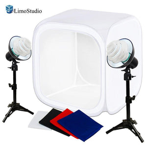 30 x 30 x 30 Inch Cubic Table Top Photo Studio Lighting Softbox Shooting Tent with Color Background for Commercial Product Shooting, AGG1875V2
