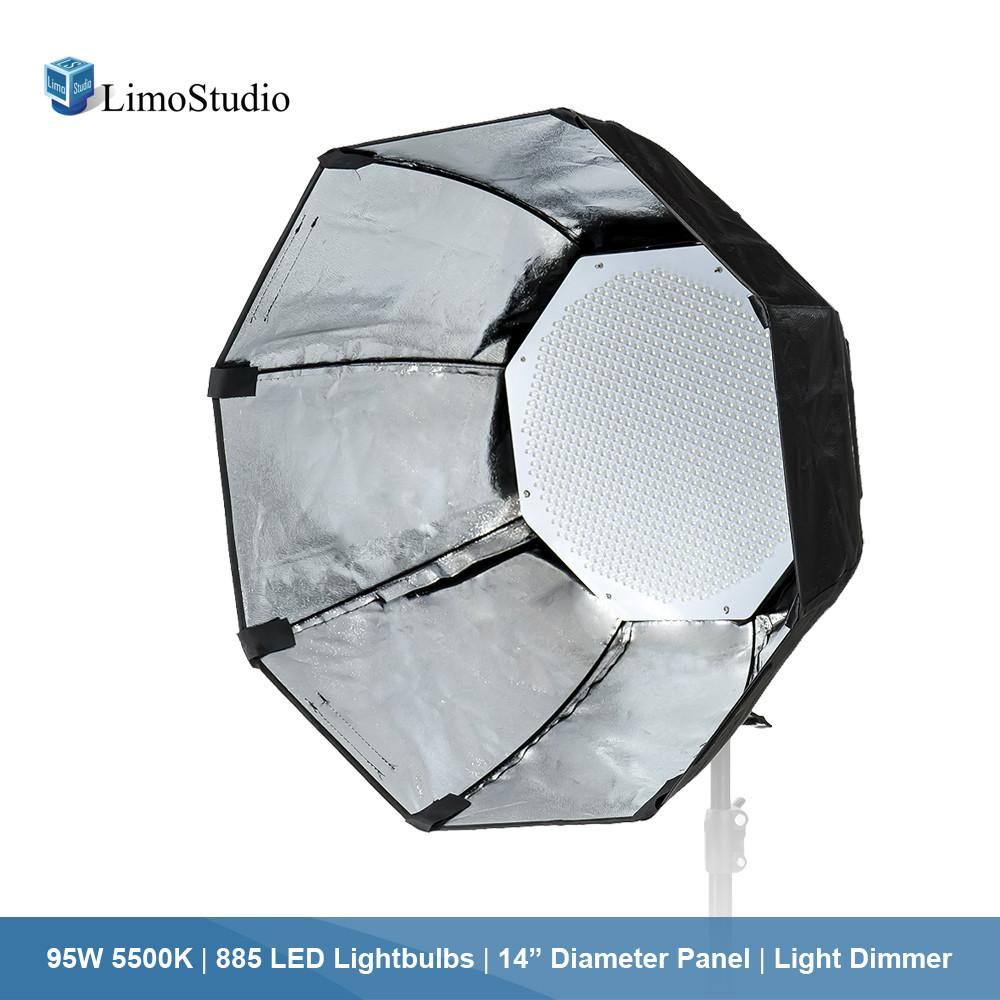 Dimmable 885 LED Lightbulb Octagon Panel Light / Diffuser with Softbox,  Continuous Lighting Bundle Kit, Photo Video Studio, AGG1876