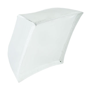 White Umbrella Reflector Soft Box, 24-inch Square, Light Diffuser for Smooth Even Light, Photo Studio, AGG1878