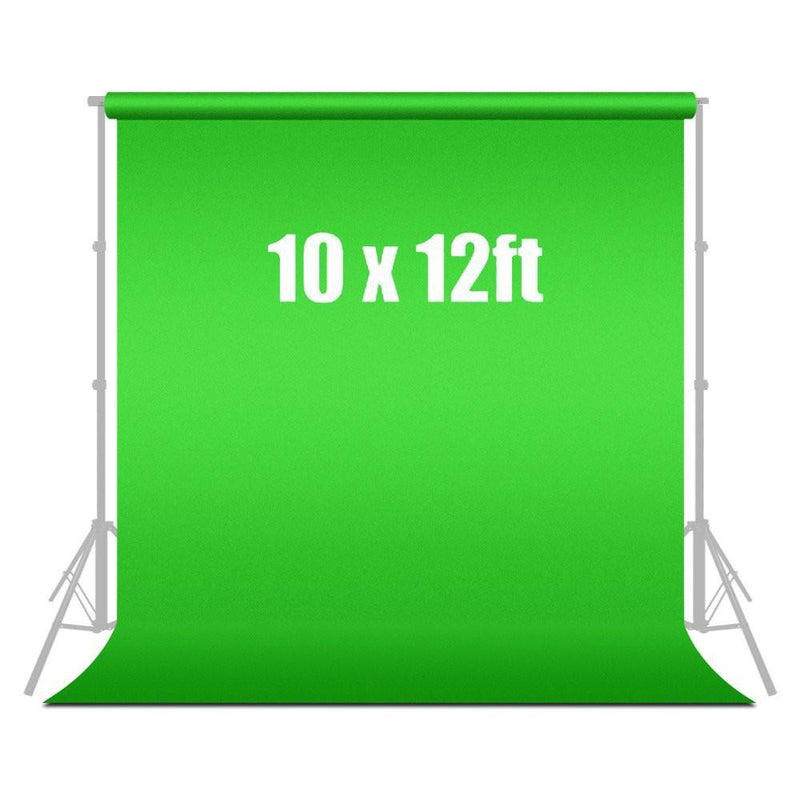10 ft X 12 ft Green Chromakey Photo Video Photography Studio Fabric Backdrop Background Screen, AGG187V2