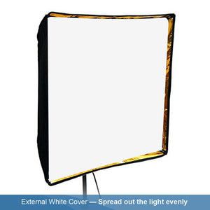 "24""x24"" Photo Studio Speedlight Flash Reflective Umbrella Softbox Diffuser Black / Gold, Professional Photography Studio, AGG1880"