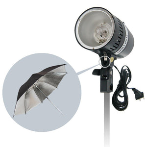 160 Watt Digital Strobe Flash Light & Umbrella Reflector Holder, Modeling Photographic Flash, Wire Sync or Wireless Radio Trigger, Photo Studio Kit, AGG1906