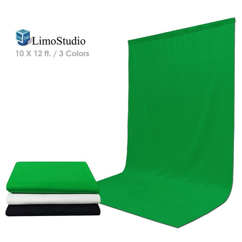10 ft X 12 ft Black & Green & White Chromakey Photo Video Photography Studio Fabric Backdrop Background Screen, AGG1933V2