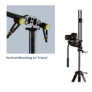 39-inch DSLR Camera Slider Dolly Track, Video Stabilizer, Carbon Fiber Rail System, High Precision Smooth Bearing Slide with Standard Mount and Spirit Level, Photo Studio, AGG1981