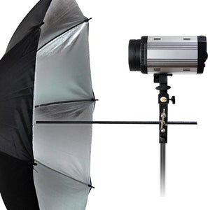 Flash Shoe Bracket 5-inch Tall Multi Functional Including Umbrella Reflector Holder, Light Stand Tripod Mount, 1/4, 3/8 inch Male, Female Thread, Photo Studio, AGG1984