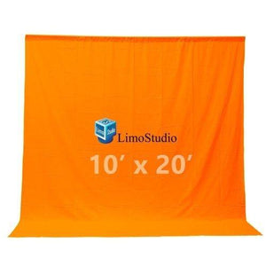 Photography Studio 10 x 20 Ft Orange Muslin backdrop photography studio video background, AGG198