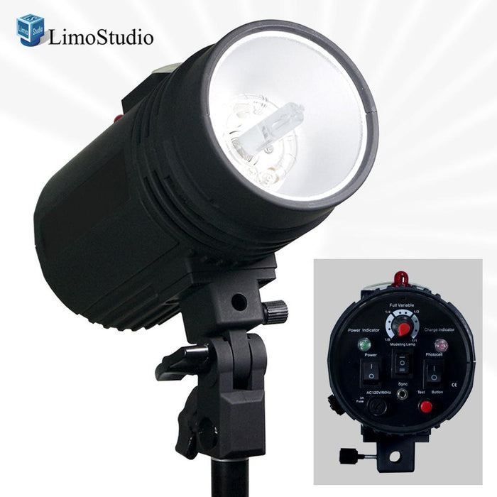 Flash Strobe Light 200 Watt, Sync Cord, Fuse, Test Button, Wireless Triggering Available, Umbrella Input, Mount on Light Stand, Professional Photography Use, Photo Studio, AGG1993