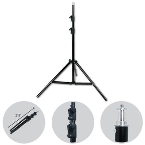 Flash Strobe Lighting Kit, Flash Light, Softbox with Diffuser, Light Stand Tripod, Softbox Connector, Radio Sync Transmitter & Receiver, Photo Studio, AGG1994