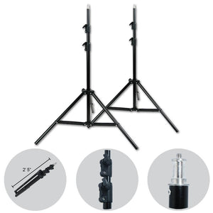 2 Sets of Flash Strobe Lighting Kit, Flash Light, Softbox, Diffuser, Light Stand Tripod, Softbox Connector, Radio Sync Transmitter & Receiver, Heavy Duty Carry Bag, Photo Studio, AGG1995