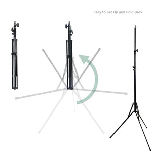 Light Stand Tripod Die-cast Metalic Material, Max 92 inch Height, Rubber Feet, 1/4 inch Thread Tip Screw, Easy Carry Case Bag, Solid Locking, Photo Studio, AGG2016